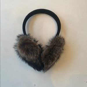 Accessories - Real fur winter ear muffs NWOT